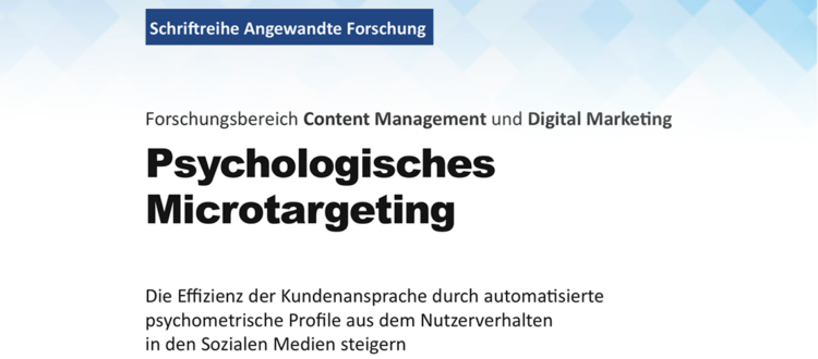 Titelbild Paper Psychologisches Microtargeting